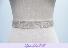 Crystal Bridal Belt  Eleanor by SparkleSM on Etsy, $140.00
