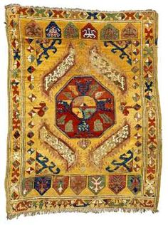 Konya rug with a yastik design mid 19th century Sotheby's Lot 24