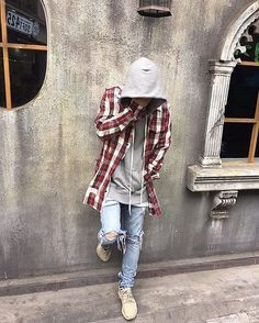 Check out @locamenstyle for daily fashion inspiration. #BestOfStreetwear  Outfit by @rmeodlfmadmf ✅ Flannel - Off White Hoodie - Fear of God Jeans - Custom Shoes - Yeezy Boost 350 _________________________________ Our Fashion Family: @hypedhaven @kostyaap