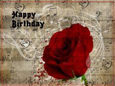 Happy Birthday - rose on sheet music - Custom edit by lechezz