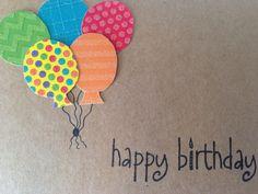 Buon compleanno palloncino carta-fatto a mano di NanasGirlsCards