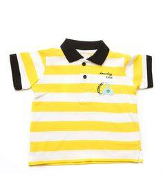 Yellow & White Striped Phone Polo by Boy Zone on #zulilyUK today!