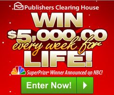 WIN $5000 a WEEK for LIFE from Publisher's Clearing House! ENTER DAILY | Coupon Clipinista