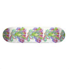 Skateboard Floral Design