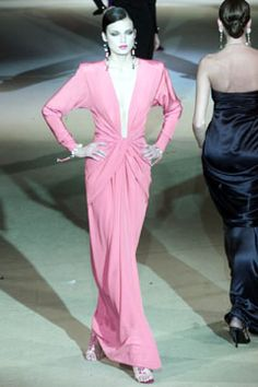 Saint Laurent | Spring 2002 Couture Collection | Style.com - Draping