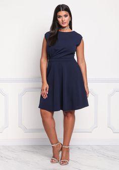 b861a963679 Plus Size Sleeveless Pleated Tank dress Plus Size Dresses