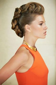 How cool is this braided faux hawk?