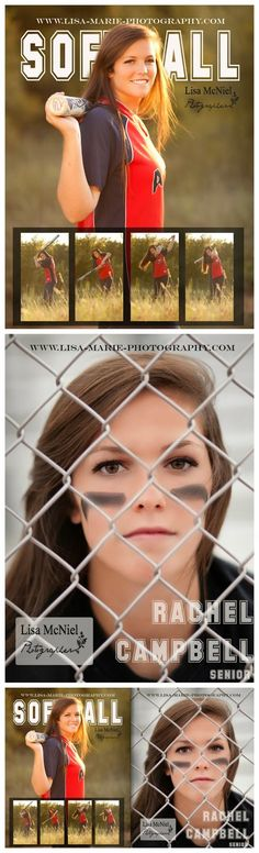 Softball senior picture ideas, click the pic for all sports and activity photography inspiration #Portraits #Seniorpictures #Softball www.Lisa-Marie-Photography.com
