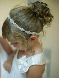 Flower girl, Headpiece, Headband, Flower Girl Hair Accessories, Child Headband, Weddings, Bridal Accessories, Rhinestone headband, Girl on Etsy, $28.00