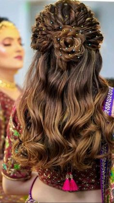 Open Hairstyles, Indian Bridal Hairstyles, Bride Hairstyles, Office Hairstyles, Stylish Hairstyles, Hairstyles Videos, Hairstyle Short, School Hairstyles, Hair Updo