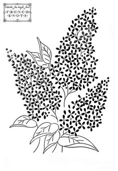 Lilacs ~ There are pages and pages of vintage embroidery patterns on this site!