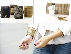 via Jeannie Mai at Opensky.com - fashionable cuffs that allows you to tuck some cash, credit cards, id's keys, lip gloss, etc. :)   Join opensky for free via the following link & earn some cash for your purchases: http://osky.co/whLFHg