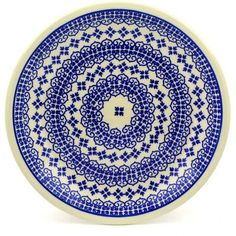 Polmedia Polish Pottery 9inch Stoneware Plate H9614D Hand Painted from Zaklady Ceramiczne in Boleslawiec Poland Shape S604AGU1001 Pattern P5543A922 *** Click the pottery image to find out more