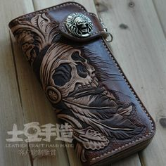 Indian Skull Wallet., via Etsy.