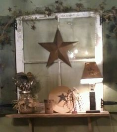 old primitive decorating ideas | ... ideas when it comes to using wood windows to decorate in a primitive