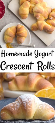 10 Most Misleading Foods That We Imagined Were Being Nutritious! These Homemade Crescent Rolls Are Made With Orange Zest And Yogurt. The Perfect Breakfast Or Snack Recipe For Any Day Of The Week. Italian Breakfast, Breakfast Cake, Perfect Breakfast, Breakfast Ideas, Easy Bread Recipes, Snack Recipes, Snacks, Brunch Recipes, Homemade Crescent Rolls