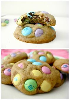 Peanut Butter M+M Cookies - 3/29/13 DELISH! They do look raw when they come out of the ovem but do harden as they cool. Big hit