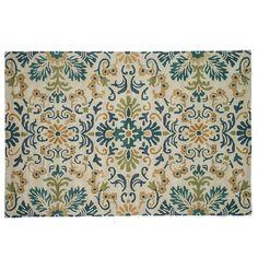 Loloi Fairfield Floral Wool Rug, Blue