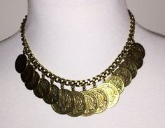 New Authentic Brass St. Tropez Coin Necklace.