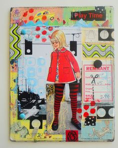 Mail Art Postcards by Roxanne Padgett #mailart #diy #collage