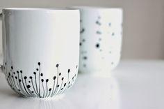Tassen bemalen - Geschenk für Muttertag basteln