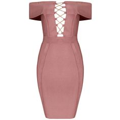 Honey couture elisha pink off shoulder mini bandage dress (€125) ❤ liked on Polyvore featuring dresses, sexy dresses, sexy cocktail dresses, off the shoulder cocktail dress, pink cocktail dress and pink dress