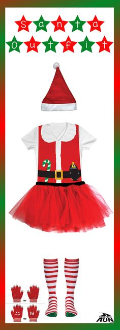 Be the head hancho this holiday season in our head-to-toe Runner #Santa Running Outfit!  Get decked out for your next race in one of our signature outfits! Each outfit set provides a suggestion for creating a one-of-kind running outfit. Pick your favorite pieces from your outfit, or choose the complete set for a complete head-to-toe look.