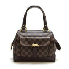 Louis Vuitton Knightsbridge Damier Ebene Handle bags Brown Canvas N51201