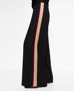 Image 2 of SPORTS STRIPE TROUSERS from Zara