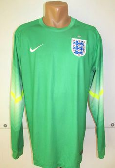 England 2014 2015 goalkeeper football shirt by Nike soccer jersey WorldCup  nationalteam threelions  England 87f6855ee