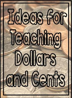 If you are teaching your kids money, than you need this post. Great ideas for games and other activities using coins.