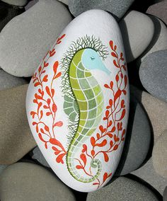 Hand Painted Cape Cod Beach Stone