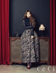 Pop singer IU in CeCi Magazine (November The songstress released her third Korean studio album, Modern Times, last month. Iu Fashion, Fashion Outfits, Fashion Design, Korean Fashion, Brand Magazine, Korean Artist, Korean Celebrities, Girl Crushes, Female Models