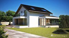 Modern House Facades, Modern Exterior House Designs, Diy Couch, A Frame Cabin, Cottage Plan, Facade House, Design Case, Home Fashion, House Plans