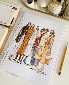 Fashion Model Sketch, Fashion Design Sketchbook, Fashion Design Portfolio, Fashion Design Drawings, Dress Design Sketches, Fashion Sketches, Art Portfolio, Art Sketchbook, Fashion Drawing Tutorial