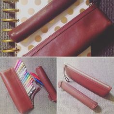 Leatherology pen cases. Small one for work purse and large one for home. They are very durable and elegant. #leather #leatherology #leatherologygoods #happyplanner #planneraddict #plannerlove #planner #filofax #filofaxaddict #kikkik #plannernerd #kikkikplanner by starflyproject