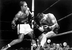 Rocky Marciano the Brockton Buster:  hits like a shotgun blast to the chest...