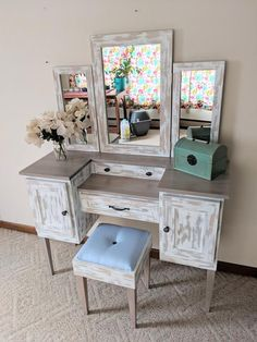 Makeup Table Vanity, Makeup Tables, Metal Drawers, Foam Cushions, Quality Furniture, White Paints, Adjustable Shelving, Kitchen Remodel, Diy Home Decor