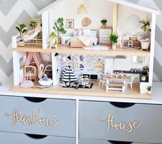 """1,254 Likes, 111 Comments - A L I C I A (@hudson_and_harlow) on Instagram: """"Here is the whole dollhouse The Whimsy Luxe Dollhouse is available from @whimsy_woods it also has…"""""""