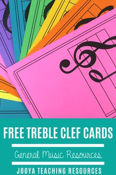 Grab yourself some FREE printable resources for your music classroom. These treble clef cards are great for bulletin boa Music Lesson Plans, Music Lessons, Piano Lessons, Art Lessons, Music Education, Music Teachers, Physical Education, Health Education, Music Bulletin Boards