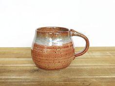 Pottery Mug in Shino and Sea Mist Glazes Ceramic Cup Rustic