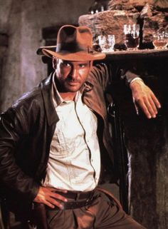 Indiana Jones Jacket in the movie Raiders of the Lost Ark . Made from High  Quality Cowhide leather 724f4373aff0
