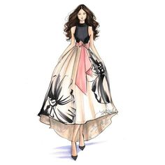 Image result for model dress drawings