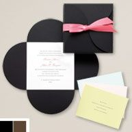 A pink ribbon is the perfect accent! #weddinginvitation #invitation #exclusivelyweddings