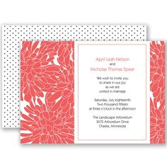 Glorious Blooms - Guava - Invitation