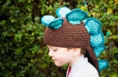 Custom Baby/Toddler Stegosaurus Crochet Hat by KatGoldinDesigns