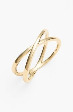 Bony Levy Crossover Open Ring (Nordstrom Exclusive) available at #Nordstrom. White gold/yellow gold