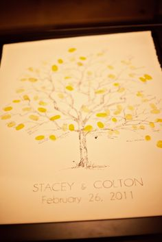 Guest book tree to frame in your house