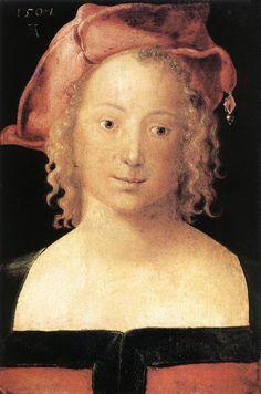 Portrait d'une jeune fille, par Albrecht Dürer
