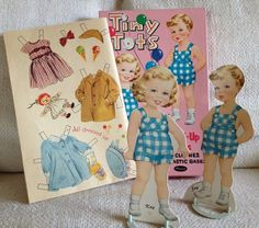 Uncut 1957 Whitman Tiny Tots Jay and Kay Paper Dolls. My cousin, Jay, and I used to play with these when we were little.